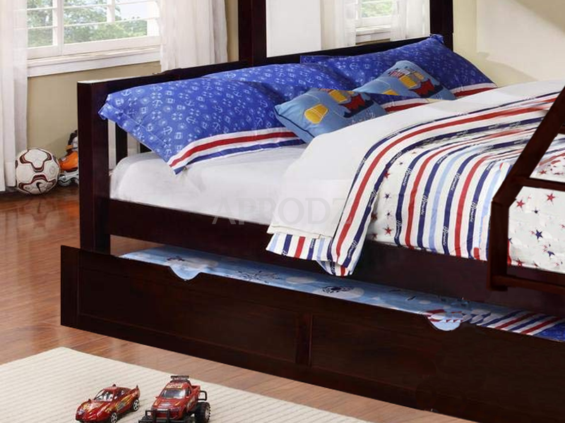 Ashmo Twin Over Queen Bed with expresso finish
