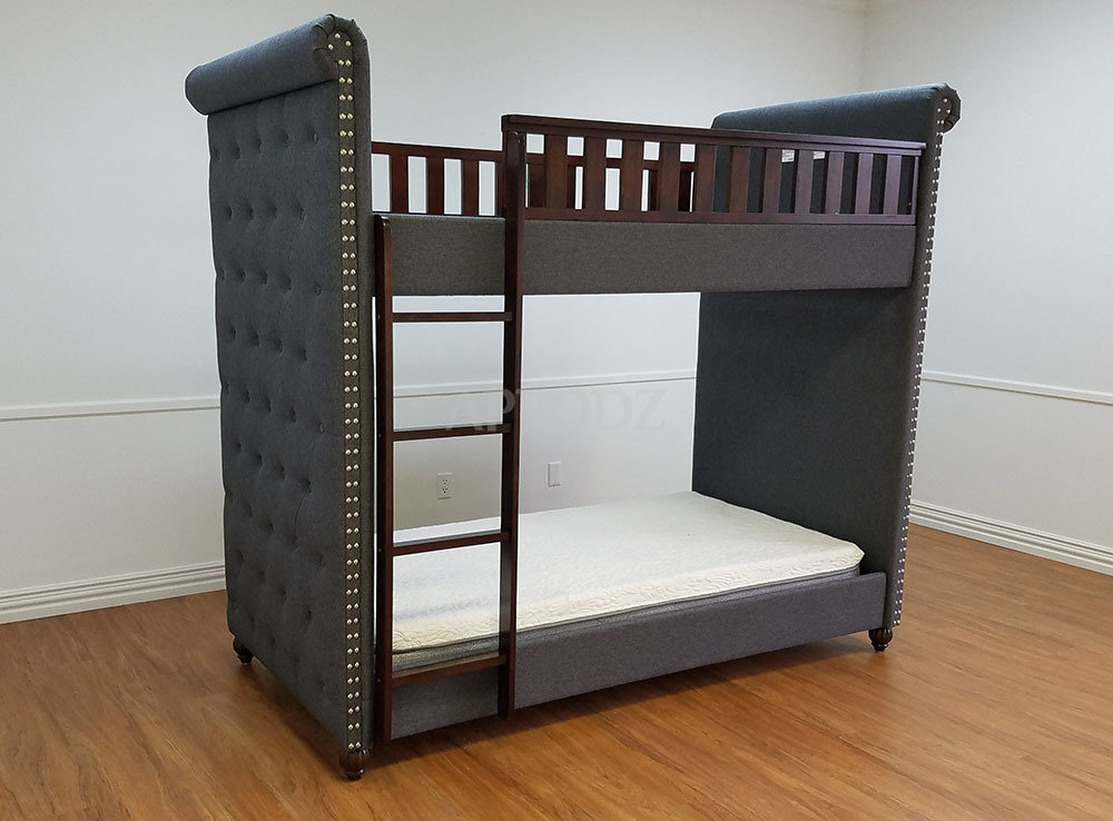 blue fabric cindy bunk bed