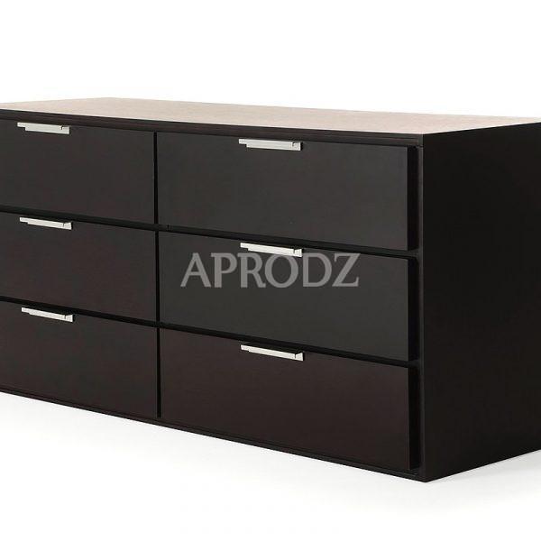 cubo sideboard in black finish
