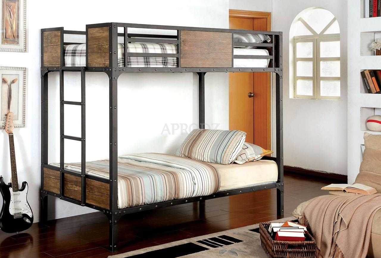Aprodz Ellison Twin Size Bunk Bed