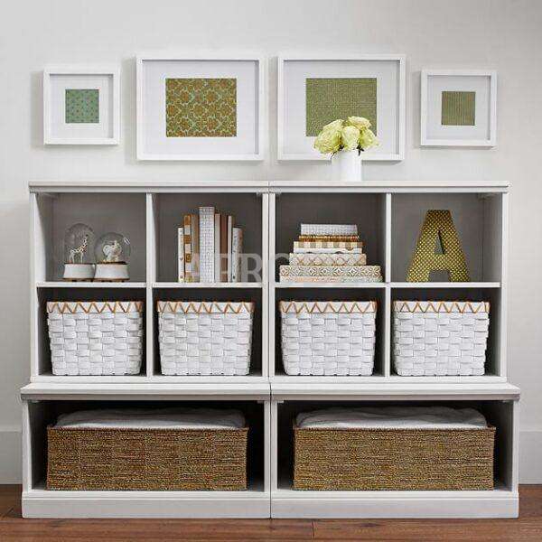 Audra 2 Cubby & 2 Open Base Set, Simply   Grey