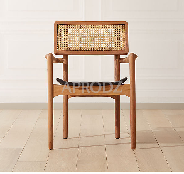 oniker leather seated Rattan armchair