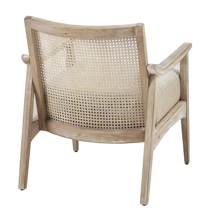 deleon cane armchair with upholstered seat