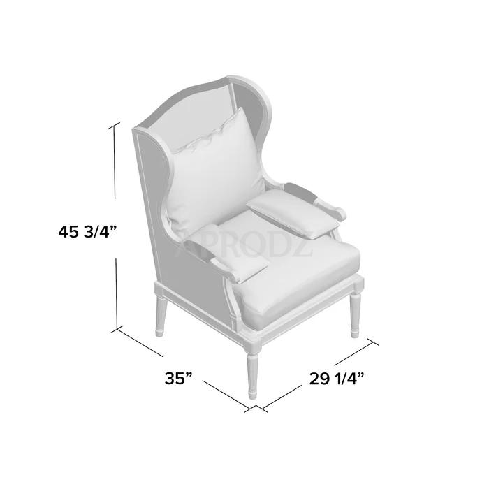 denis cane armchair Dimensions