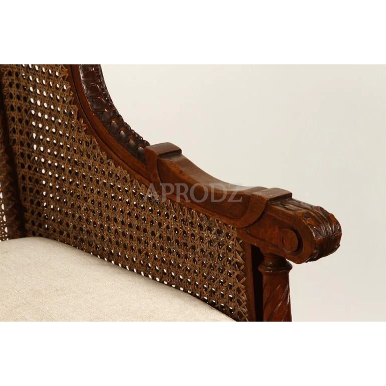 french vintage cane armchair