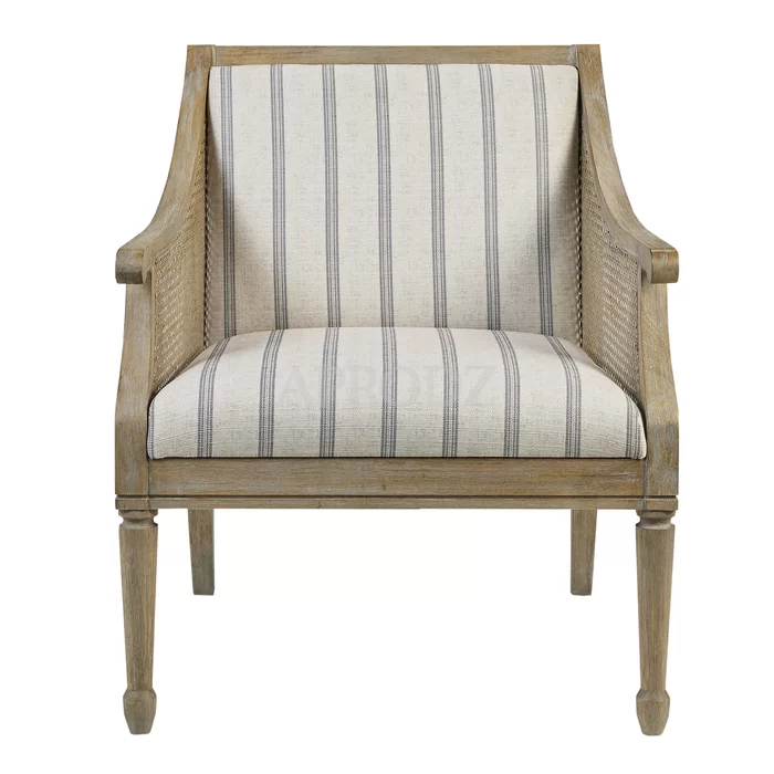 isla upholstered armchair in cane work