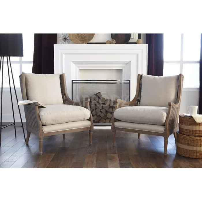 weissman living room armchair with cane work