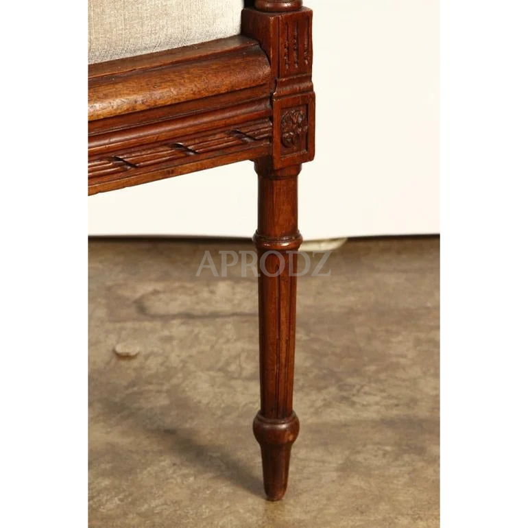 french cane armchair for living room
