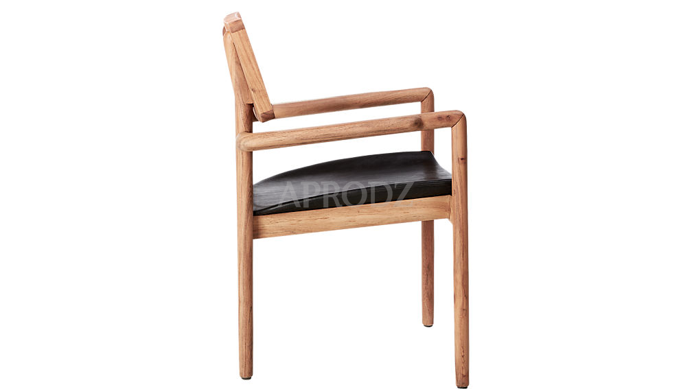 oniker acacia wood cane armchair