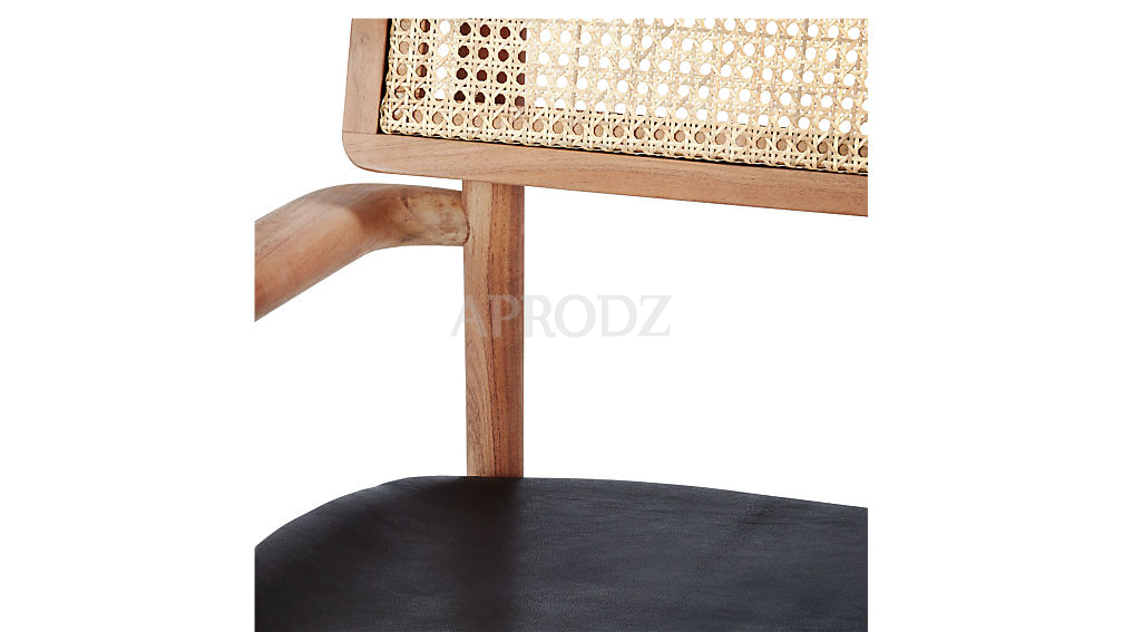 oniker cane armchair in acacia wood