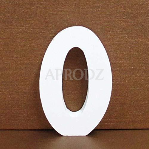 White Solid Wood Standing Numbers (0)